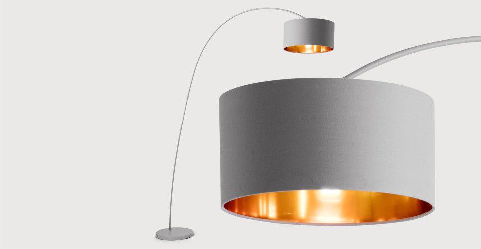 Sweep lampadaire gris mat et cuivre