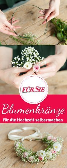 Blumenkranz für Haare einfach selber machen #makeflowers