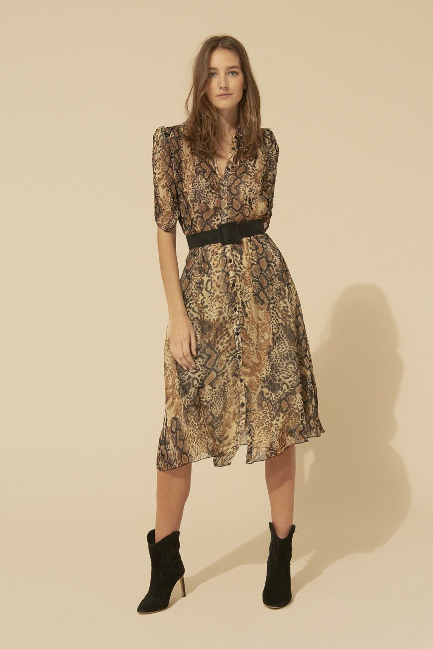 New Look Damen Bonnie Mix and Match Belted Kleid