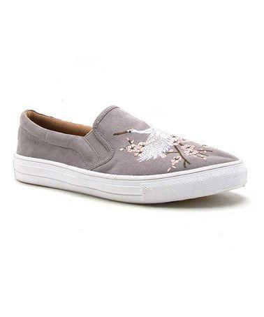 Look what I found on #zulily! Light Gray Crane Slip-On Sneaker #zulilyfinds