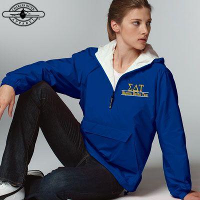 Sigma Delta Tau Sorority Embroidered Pullover Jacket #Greek #Sorority #Clothing #SDT #SigDelt #SigmaDeltaTau