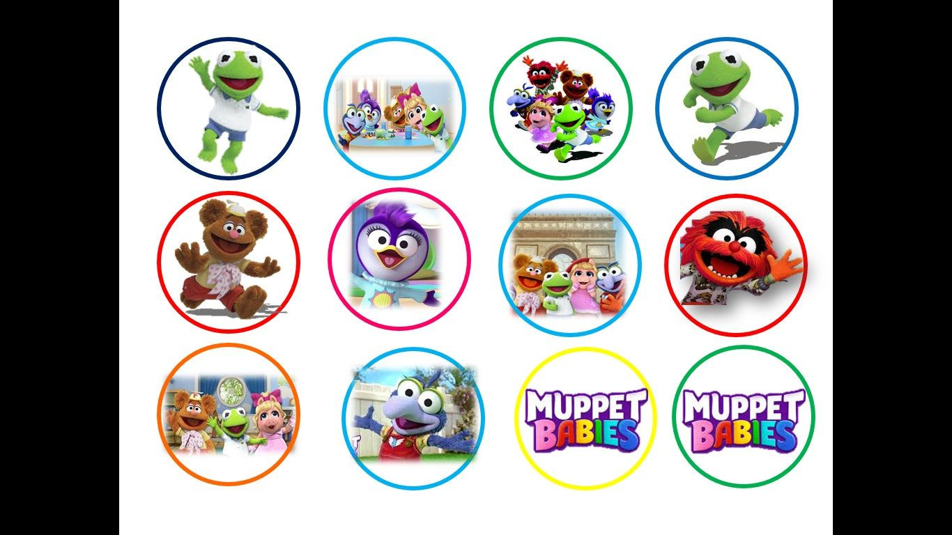 25 Precut The Muppets Disney BIRTHDAY Edible Wafer Rice card Cupcake Toppers