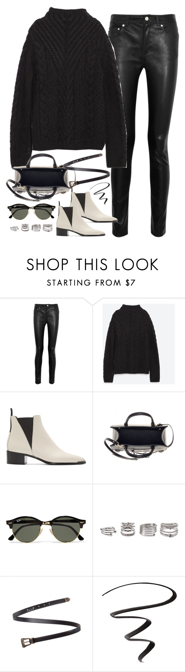 """""""Untitled#4402"""" by fashionnfacts ❤ liked on Polyvore featuring Acne Studios, Zara, Balenciaga, Ray-Ban, Forever 21, Yves Saint Laurent and L'Oréal Paris"""