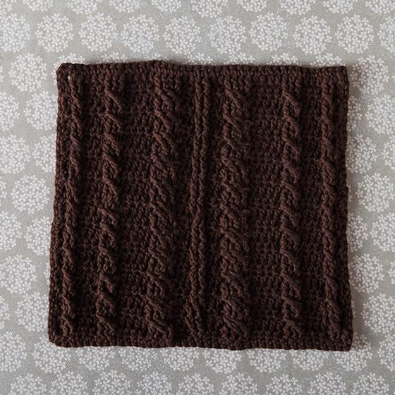 KnitPicks: Cabled Spa Cloth - free crochet pattern by Beth Major. 10 ...