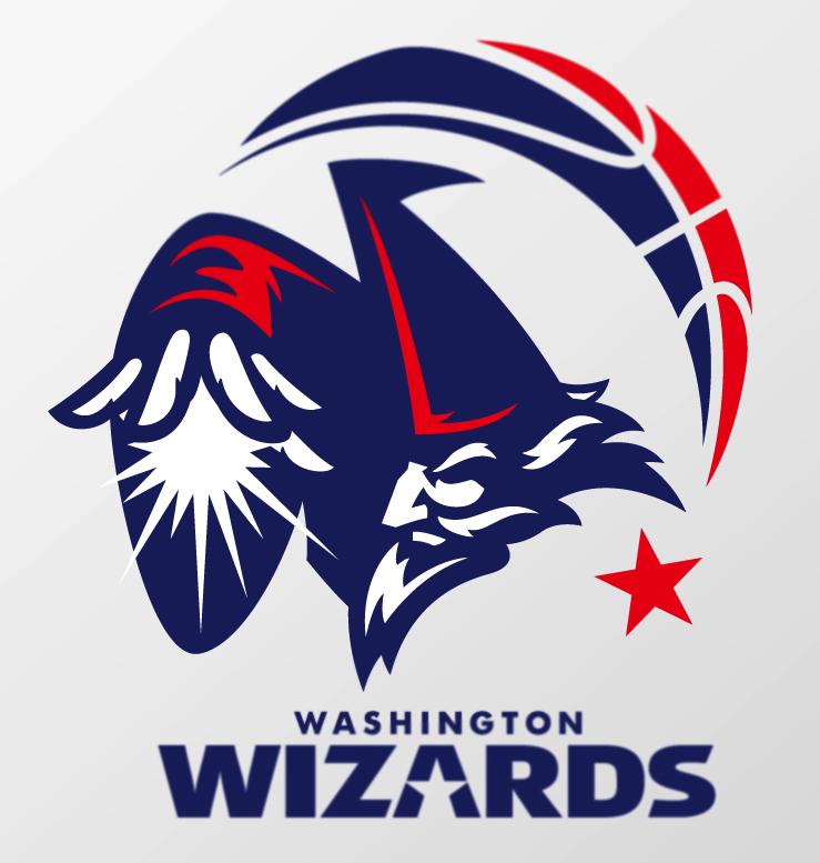 Your Favorite NBA Logos Redesigned Wizards logo, Team