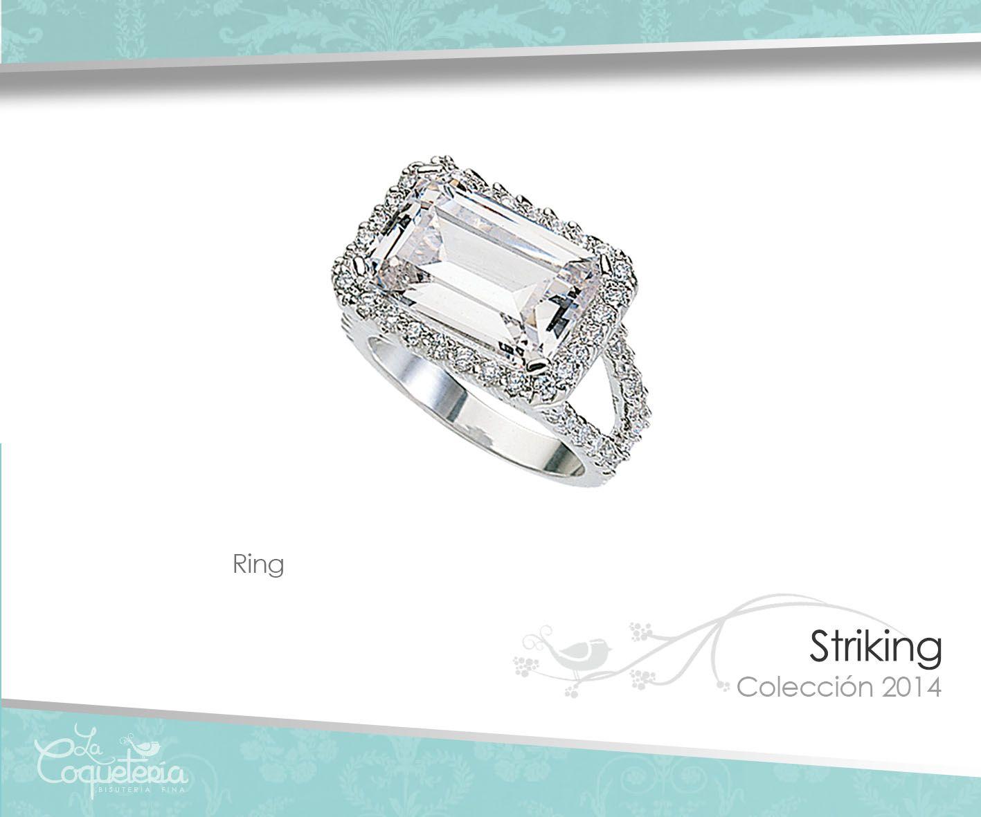 El anillo Striking con su deslumbrante marco de Zirconias similares ...