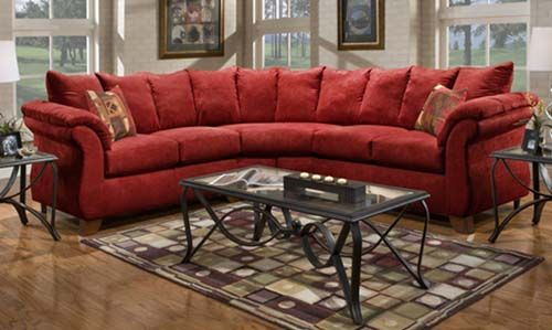 Sensations Red Sectional
