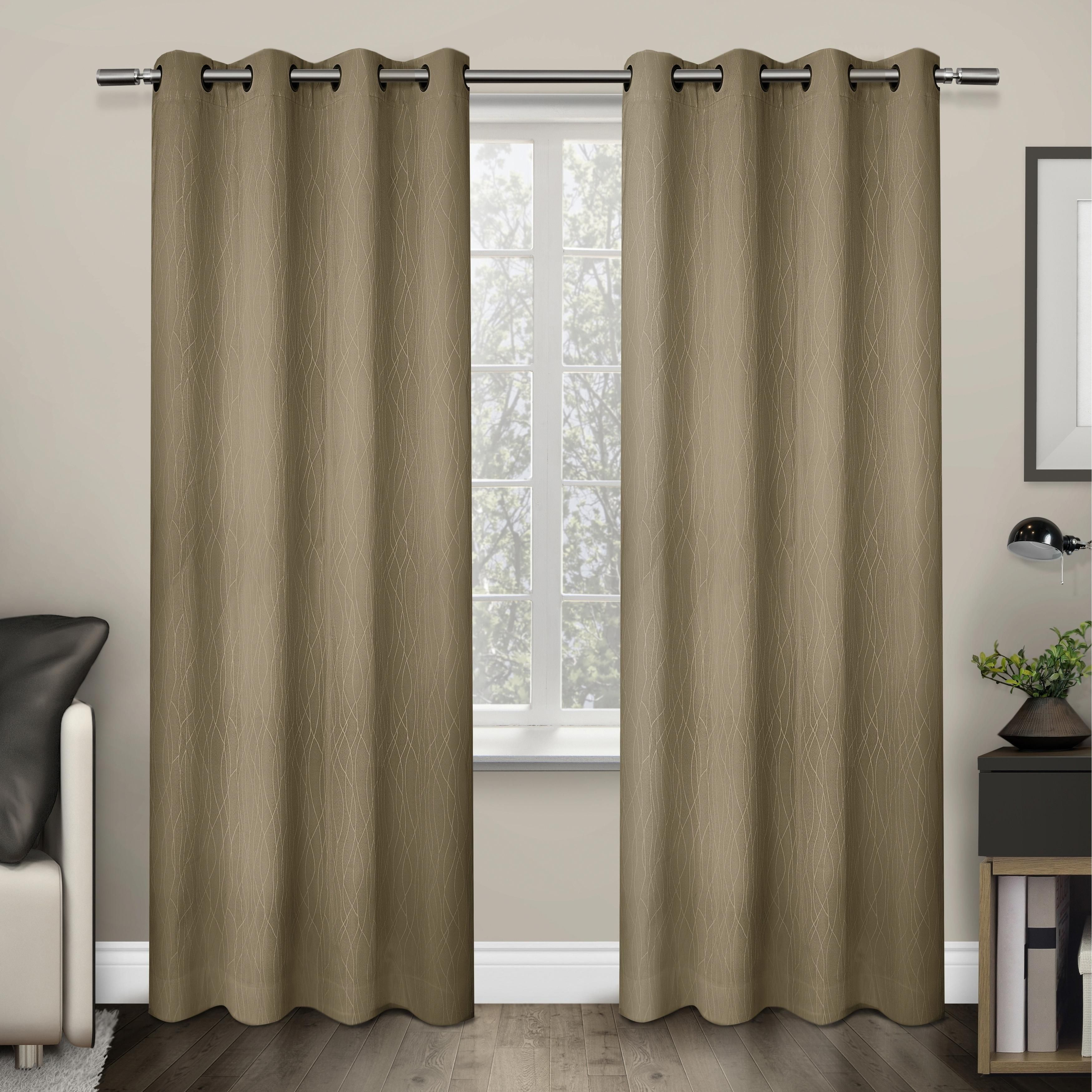 Crete Grommet Top Thermal Insulated 84 Inch Curtain Panel Pair