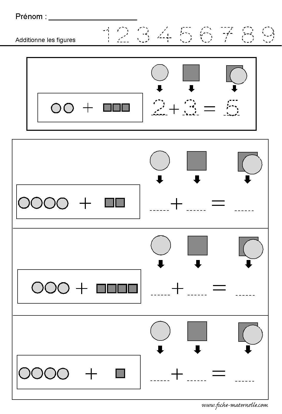 Préparation au CP : apprendre à ADDITIONNER des quantités | Fitxes ...