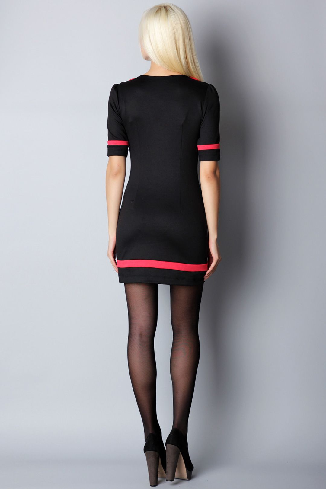 Black dress with red accents anna soroka dresses and