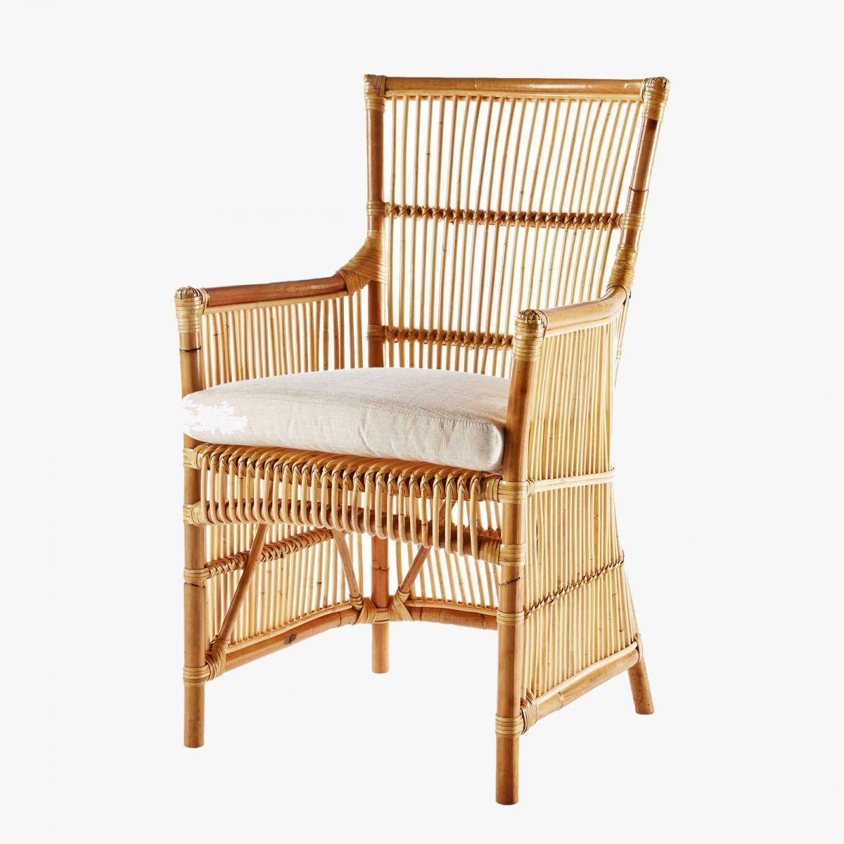 This striking Emile Rattan Chair is crafted from rattan