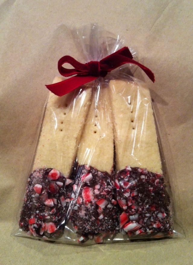 Chocolate Peppermint Dipped Shortbread: Day 3 | Kleine geschenke ...