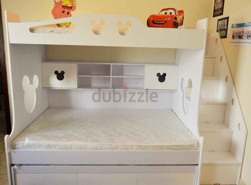 Childrens Furniture Brandnew Mickey Mouse Style 3 Kids Bunk Bed With Loads Of Storages With Delivery And Install Childrens Furniture Kids Bunk Beds Furniture