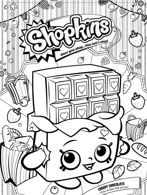 Coloring Page Shopkins Cheeky Chocolate Con Imagenes Shopkins