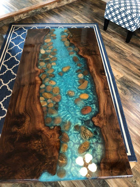 Resin Live Edge Coffee Table Stunning River Table Stone