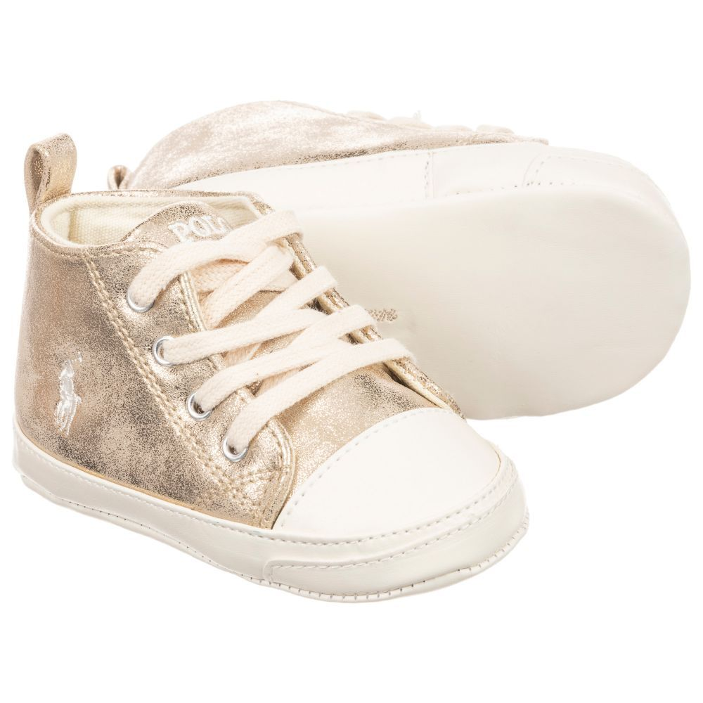 Girls Gold Pre-Walker Shoes for Girl by