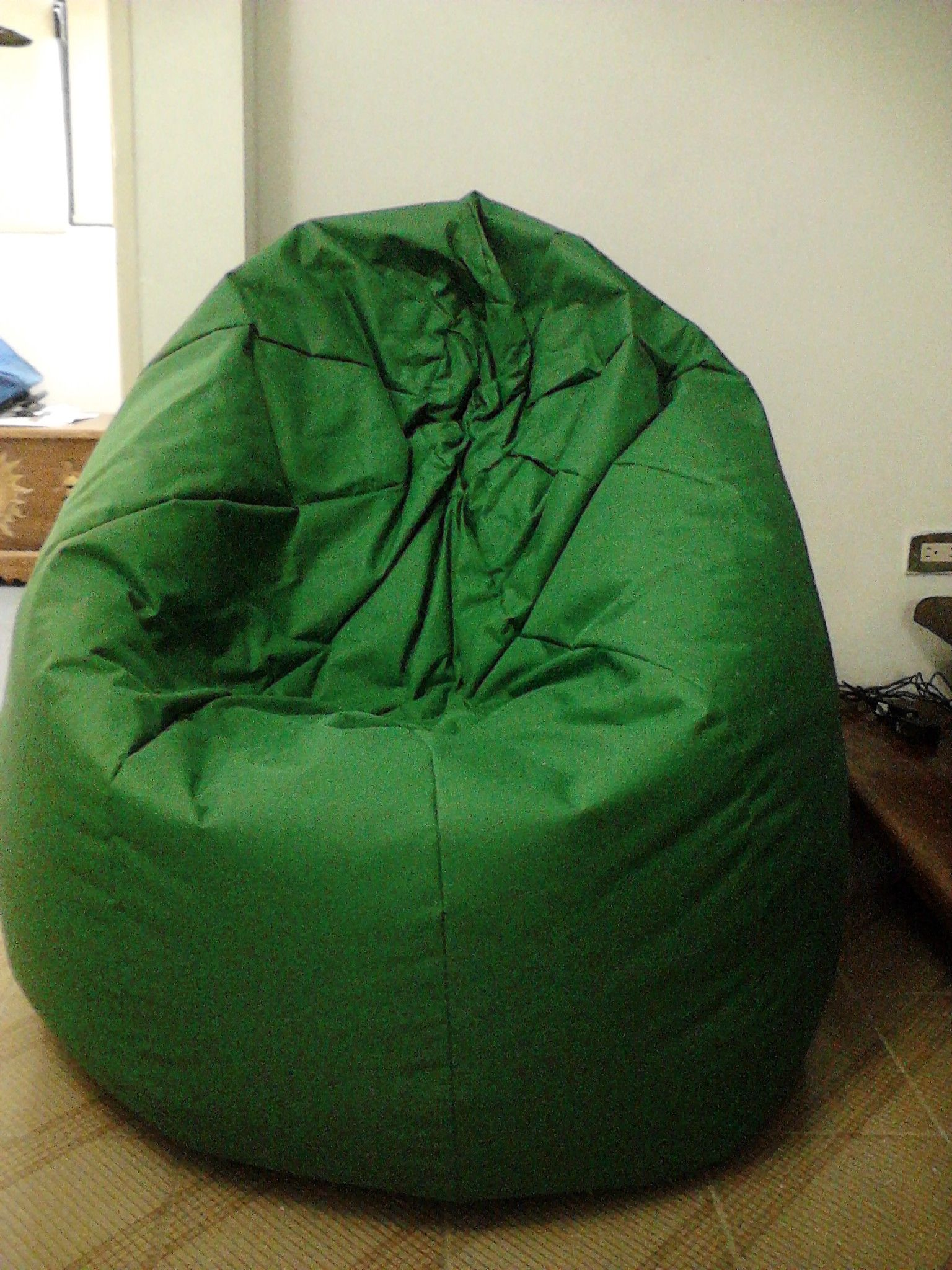 Delicieux Puff Tipo Pera/ Beanbag Chair 5.5 Kg Color Verde Oliva/ Olive Green