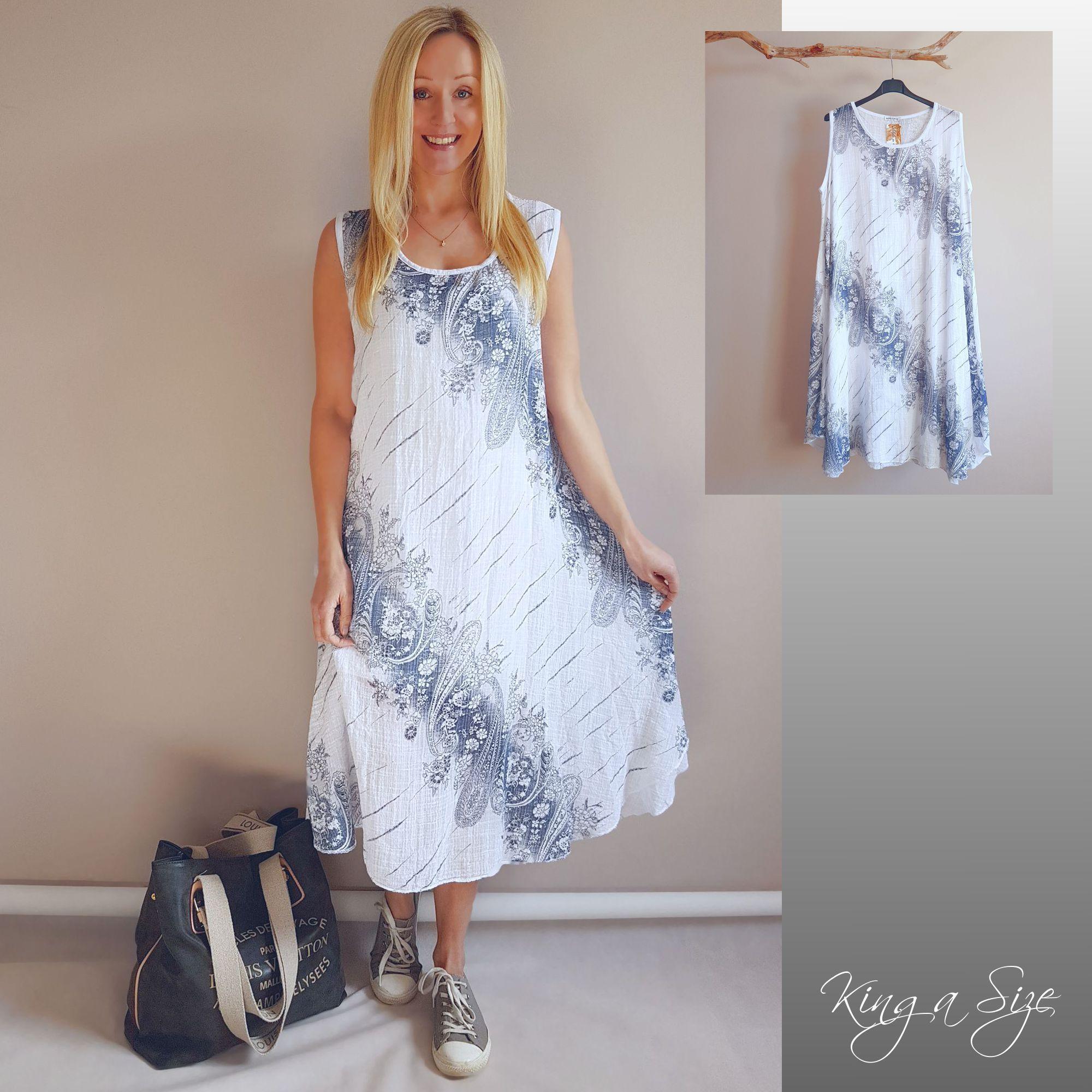 ITALY Kleid Lagenlook Gr.46 weiß plus size (mit Bildern ...