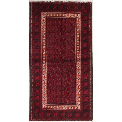 World Menagerie Putnam Geometric Red Persian Oriental Hand Knotted Wool Runner Rug 6 5 X3 5 Oriental Persian Rugs Persian Rug Runners