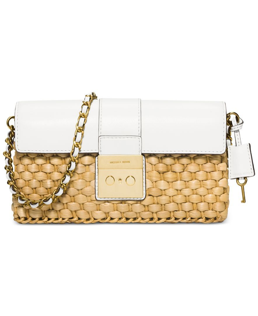 michael michael kors straw gabriella large clutch products rh pinterest com au