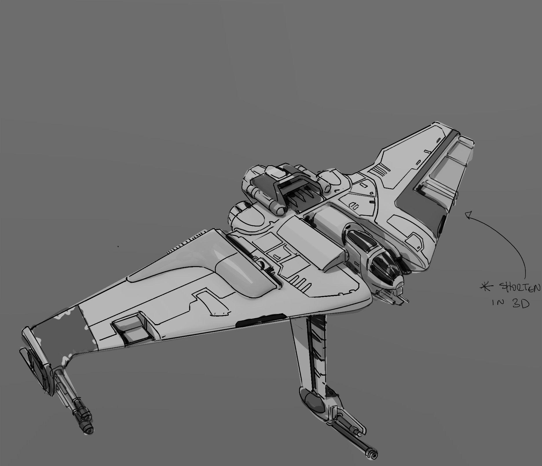 Star Wars Spaceships Concept Art