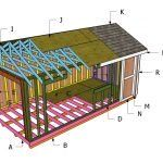 12x16 Barn Shed Roof with Loft