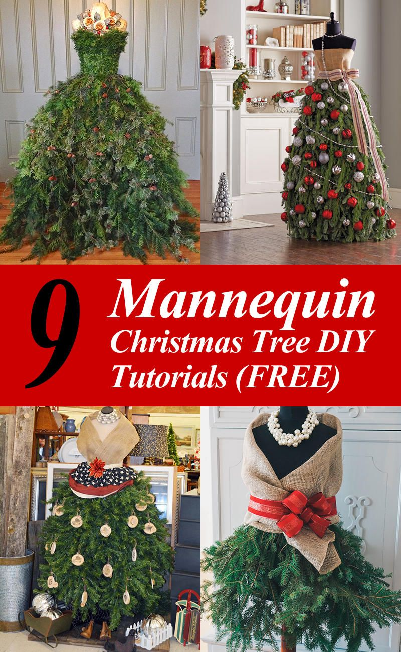 Diy Mannequin Christmas Tree 9 Dress Form Tutorials Free Mannequin Christmas Tree Diy Christmas Tree Decorating With Christmas Lights