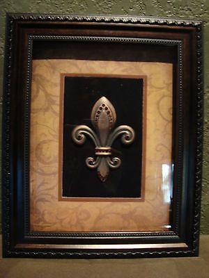 Ordinaire Brand New Framed Fleur De Lis Picture Shadow Hanging Sign Wall Plaque Decor  NIB