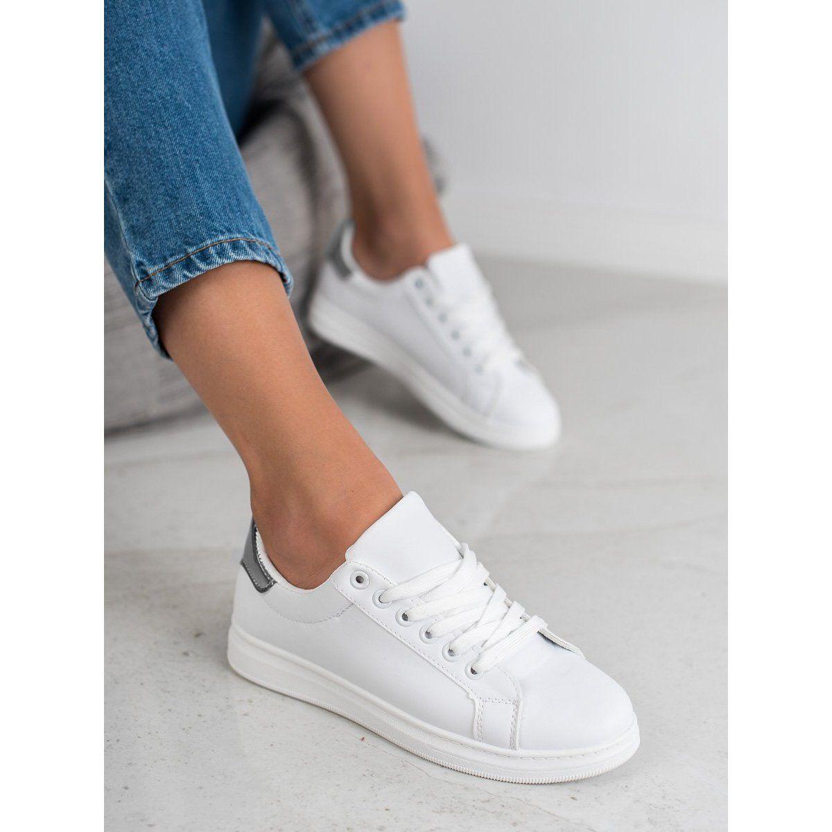 Jumex Modne Buty Sportowe Biale Shoes Sneakers White Sneaker