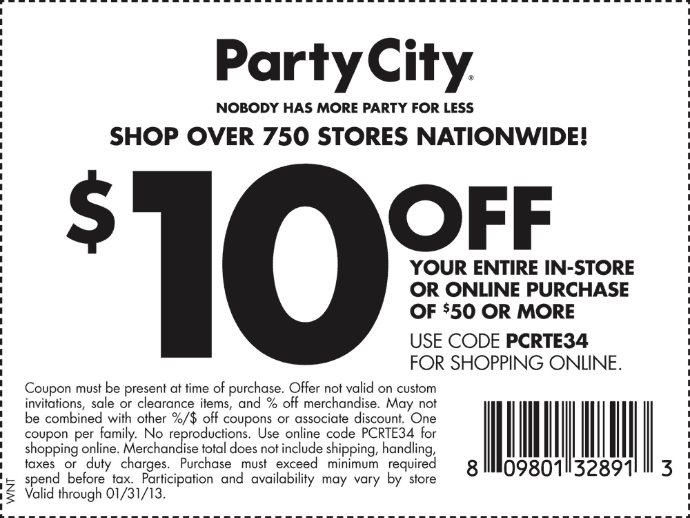 Party City Deal Party City Printable Coupons