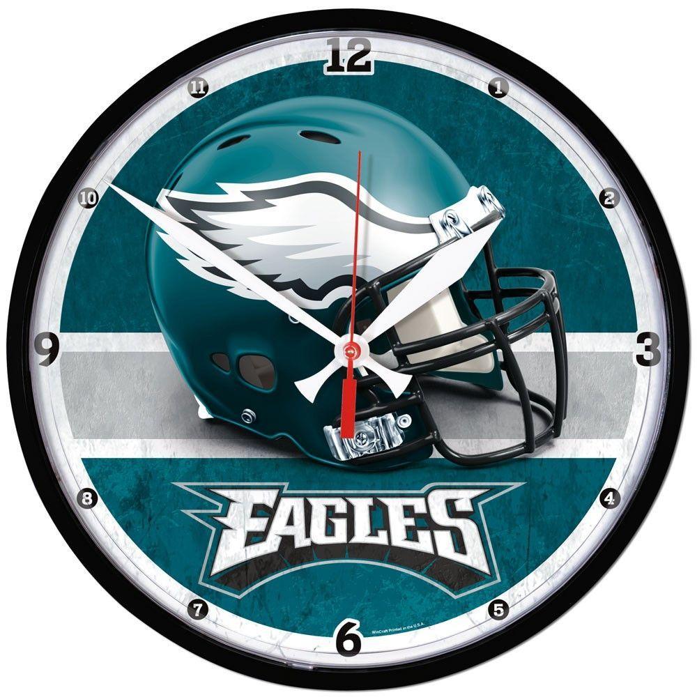 Philadelphia eagles round wall clock time things pinterest philadelphia eagles round wall clock amipublicfo Gallery