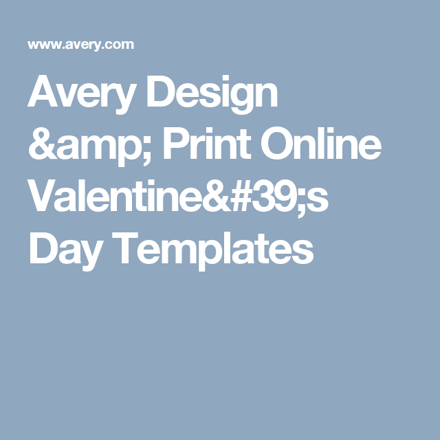 Avery Design Print Online Valentines Day Templates Valentines