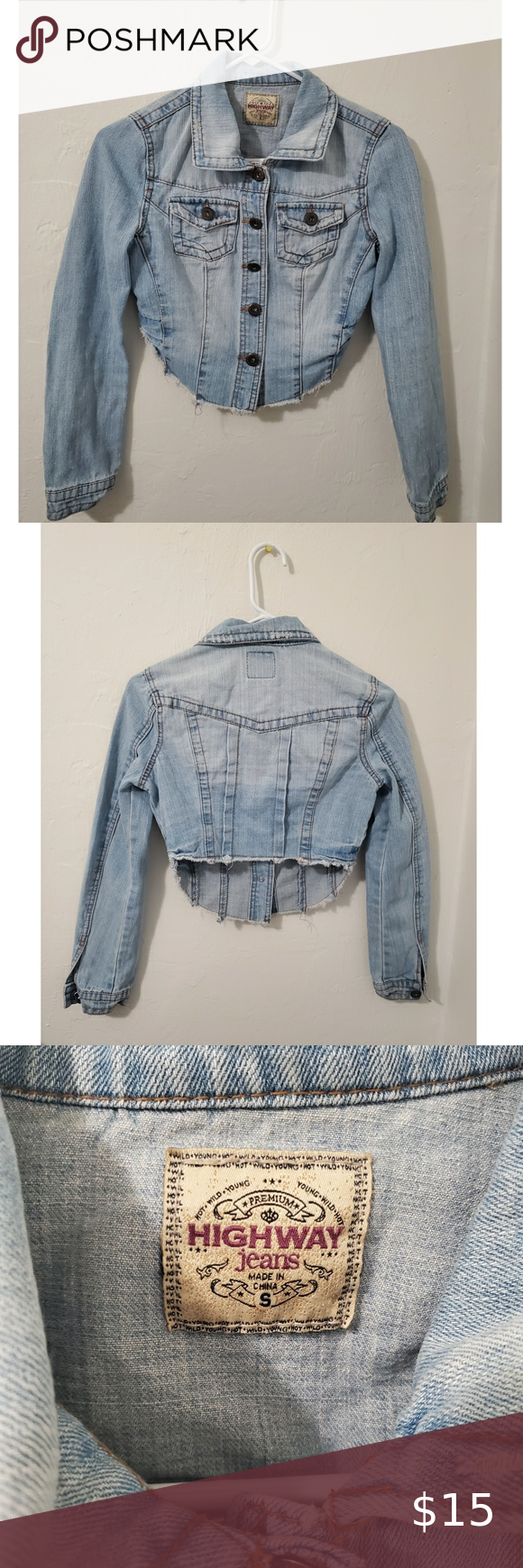 Highway Jeans Jean Jacket Pre Owned Nice Jacket In Perfect Conditions All Details Are Intact And Bottoms Hav Jeans And Jean Jacket Highway Jeans Jean Jacket [ 1740 x 580 Pixel ]