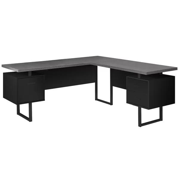 Maire Reversible L Shape Credenza Desk Black Desk Desk Home