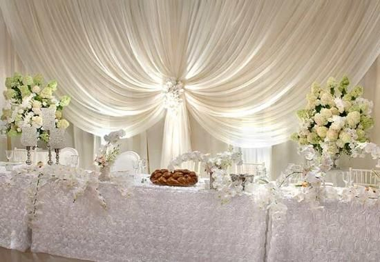 Wedding Head Table Draping Head Table Wedding Head Table