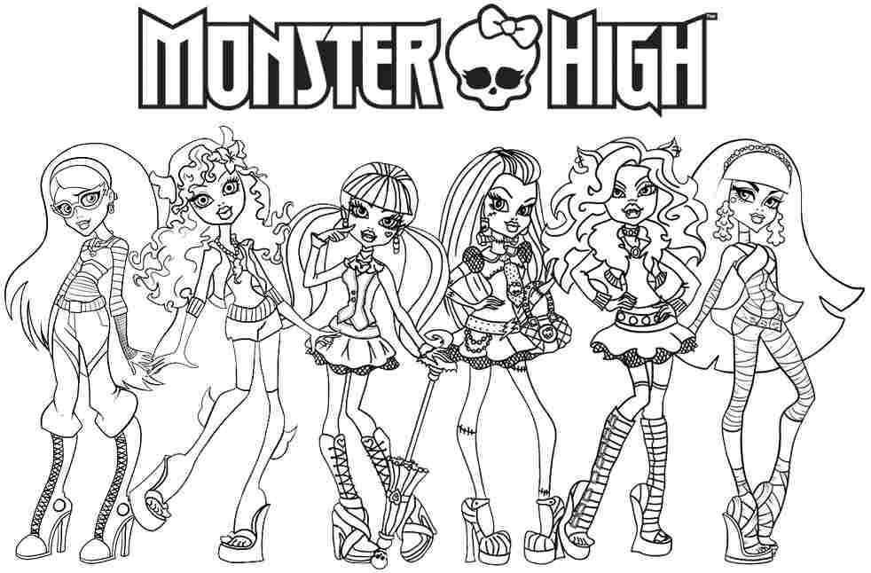 monster high coloring pages all characters   Free Monster High