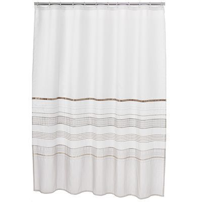 Home Classics Shimmer Shower Curtain Fabric Shower Curtains