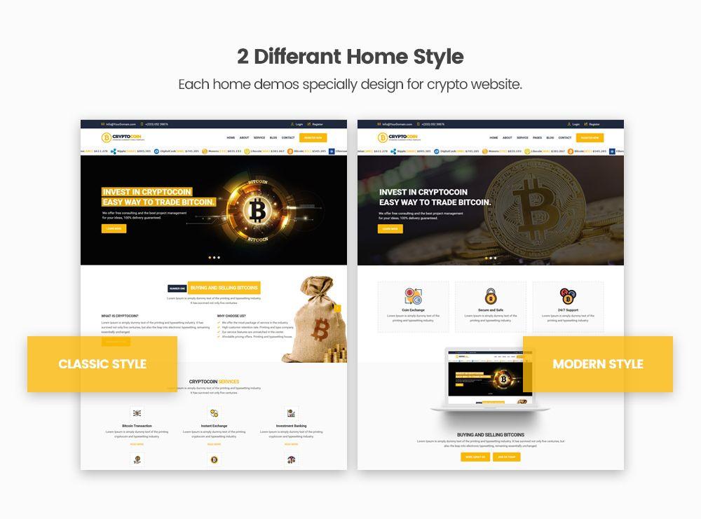 bitcoin website ideas