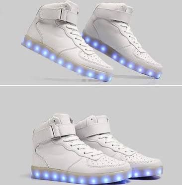 2015 Unisex Led Light Lace Up High Luminous Shoes Sportswear Sneaker