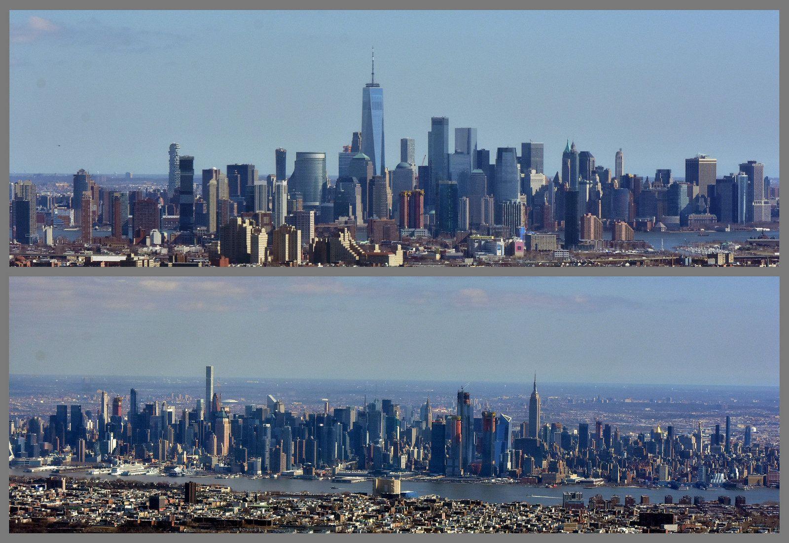 New york city jersey city san francisco skyline