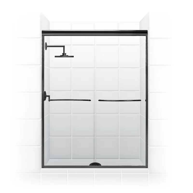 Paragon Series 54 X 71 Bypass Frameless Shower Door In 2020 Frameless Shower Doors Shower Doors Sliding Shower Door
