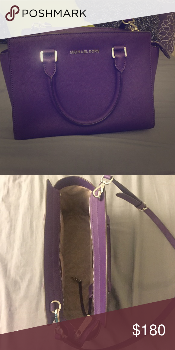9cb63a84e ... stud medium messenger crossbody 9b08d f1dba; denmark michael kors selma  sling bag selma medium bag with saffiano leather in excellent condition  michael