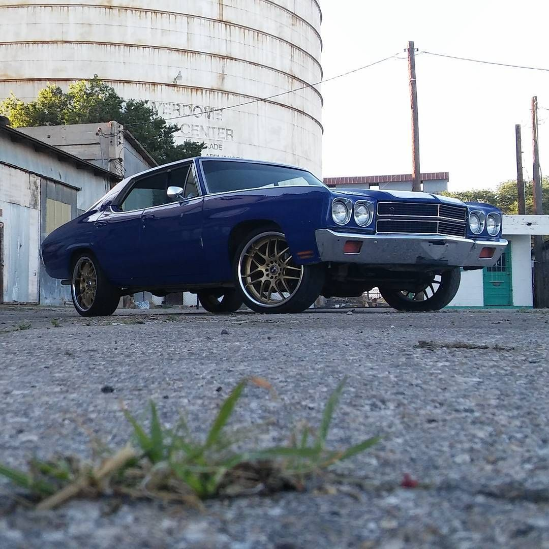 70 chevelle blue and white with gold xxr 526 mesh wheels ...