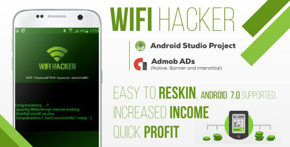 WIFI Hacker Prank + AdMob | Codecanyon collections | Hacker