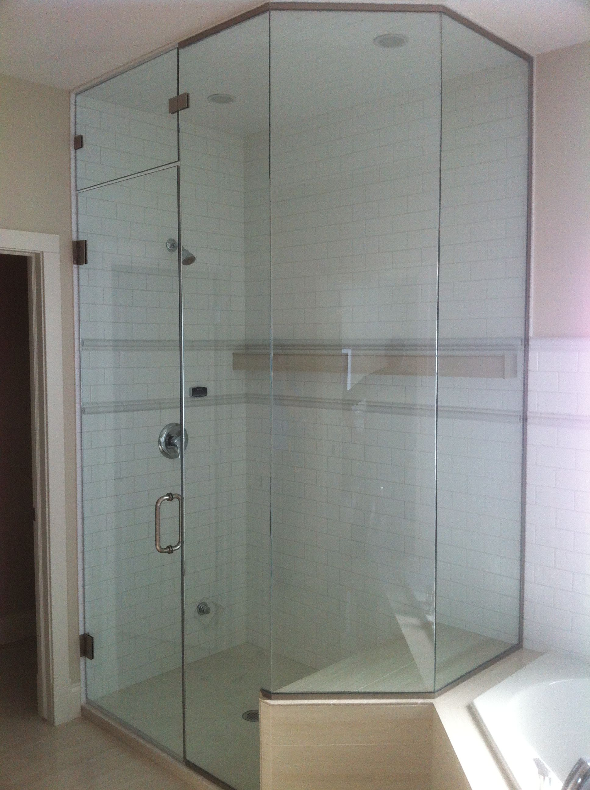Steam shower with angled bench seat | Steam Showers | Pinterest ...
