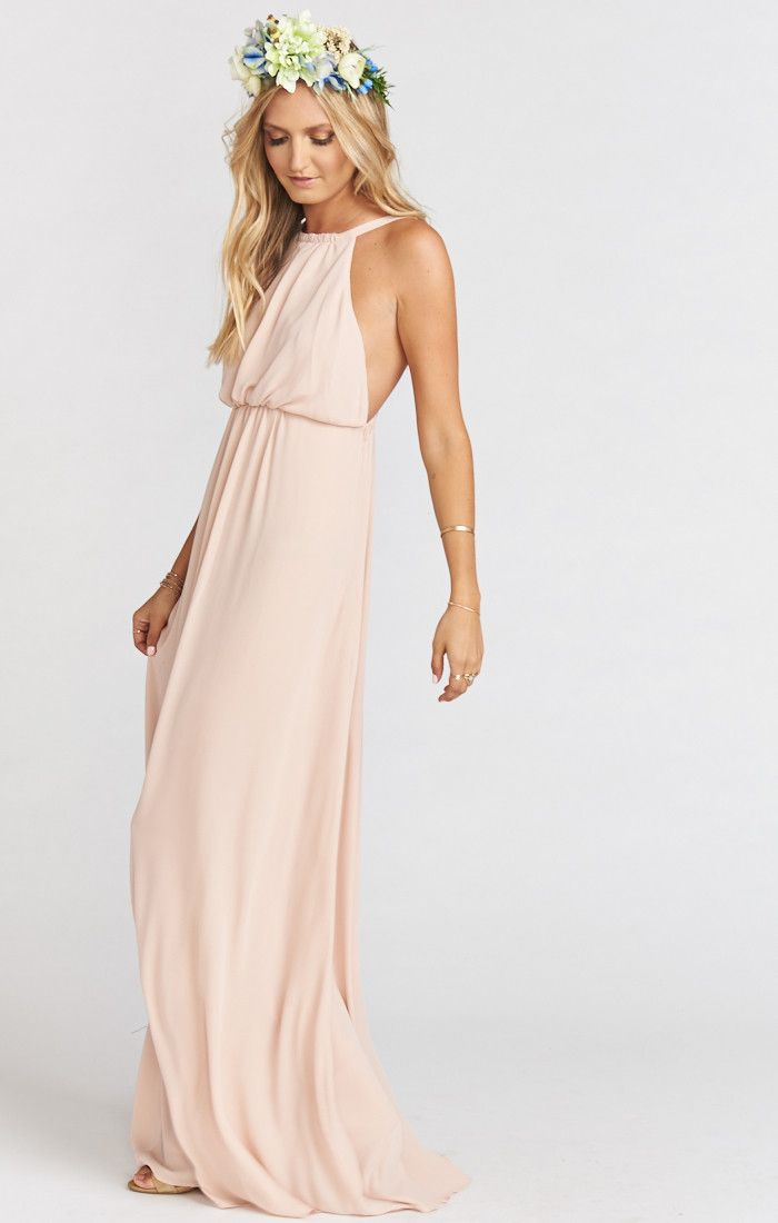 Booked Show Me Your Mumu Amanda Dress Maxi Dusty Blush