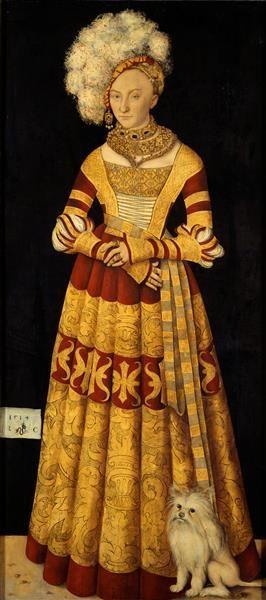 """""""Herzogin Katharina von Mecklenburg (1487-1561)"""", 1514, Lucas Cranach der Ältere (1472-1553)"""