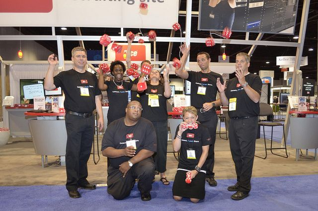 The fabulous dice.com booth staff at #SHRM12 by Dice.com, via Flickr