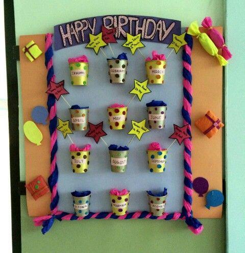 Birthday Chart Charts Bulletin Boards Board Ideas Classroom Pin