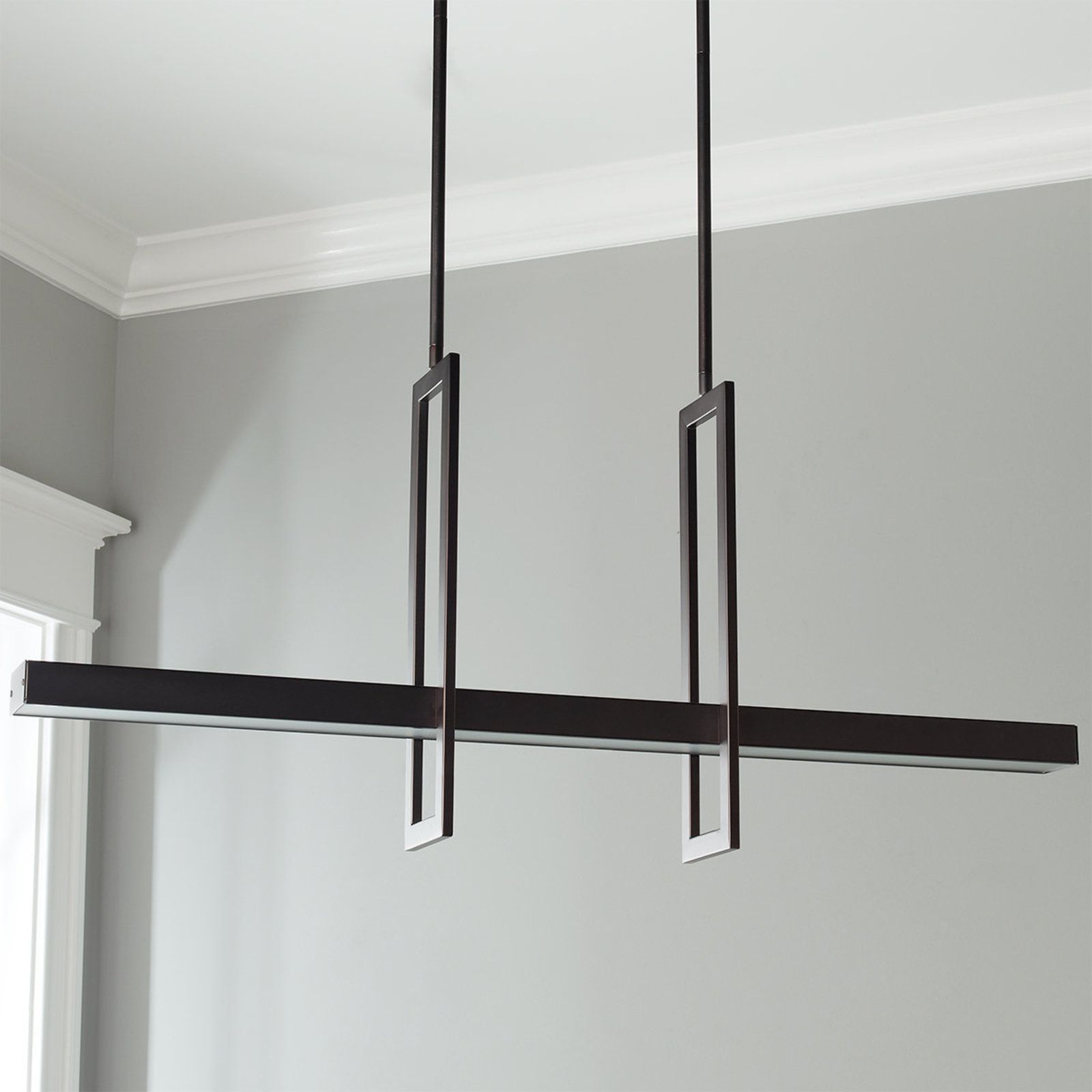 Modern Balance Beam Led Linear Chandelier In 2019 Dining